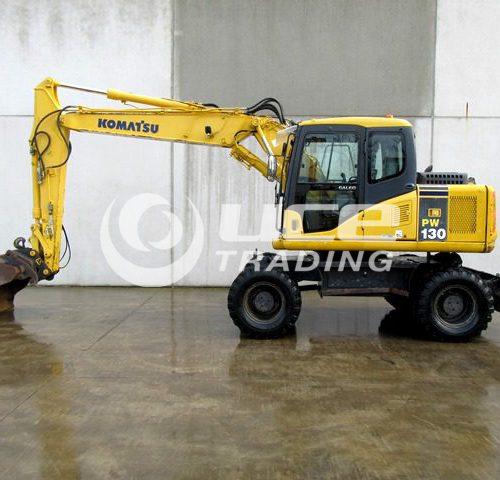 KOMATSU PW130-7K mobile excavator